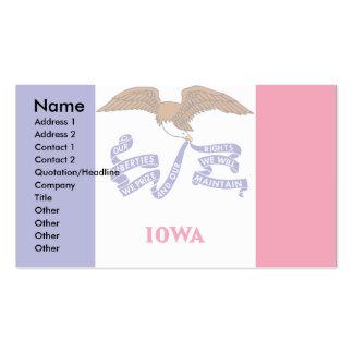 Bandera de Iowa Tarjetas De Visita