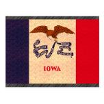 Bandera de Iowan del modelo del vintage Postales