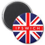 Bandera de Ipswich Reino Unido Imanes Para Frigoríficos