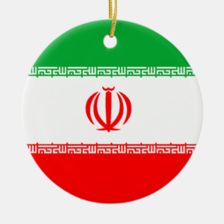 Bandera de Irán Adorno Redondo De Cerámica