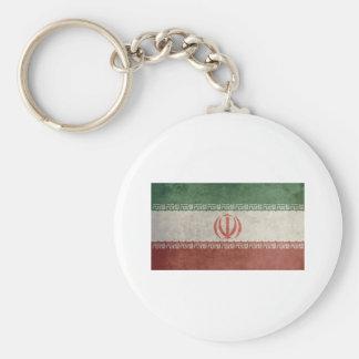 Bandera de Irán del vintage Llavero Redondo Tipo Pin