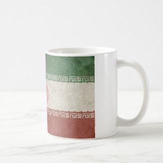 Bandera de Irán del vintage Taza De Café