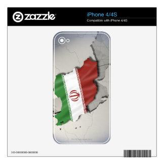 Bandera de Irán iPhone 4S Calcomanías