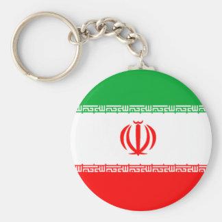 Bandera de Irán Llavero Redondo Tipo Pin