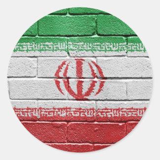 Bandera de Irán Pegatina Redonda