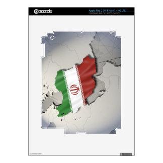 Bandera de Irán Pegatina Skin Para iPad 3