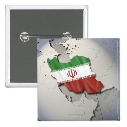 Bandera de Irán Pin