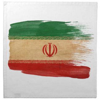 Bandera de Irán Servilletas Imprimidas