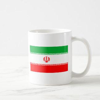 Bandera de Irán Taza Básica Blanca
