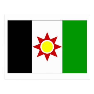Bandera de Iraq (1959-1963) Tarjetas Postales