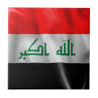 Bandera de Iraq Azulejo Cuadrado Pequeño