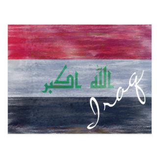 Bandera de Iraq - bandera iraquí - personalice Postales