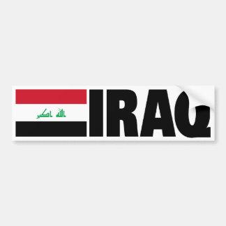 Bandera de Iraq Etiqueta De Parachoque