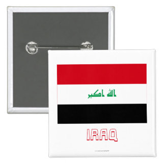 Bandera de Iraq con nombre Pins