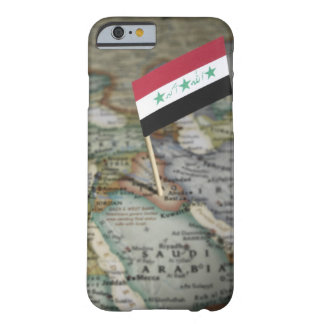 Bandera de Iraq en mapa Funda Barely There iPhone 6