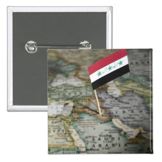 Bandera de Iraq en mapa Pin