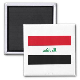 Bandera de Iraq Imán Cuadrado