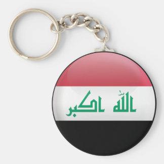 Bandera de Iraq Llavero Redondo Tipo Pin