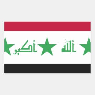 Bandera de Iraq Pegatina Rectangular