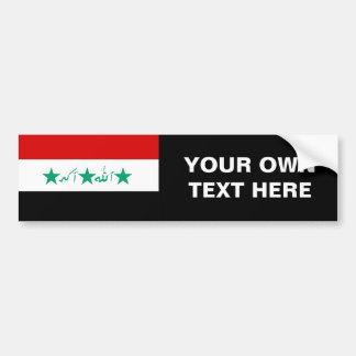 Bandera de Iraq Pegatina Para Auto