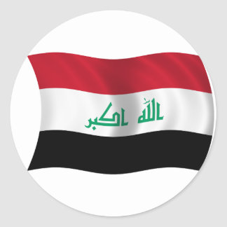 Bandera de Iraq Pegatina Redonda