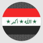 Bandera de Iraq Pegatinas Redondas