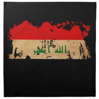 Bandera de Iraq Servilletas Imprimidas
