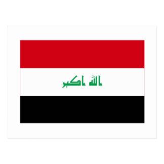 Bandera de Iraq Tarjeta Postal