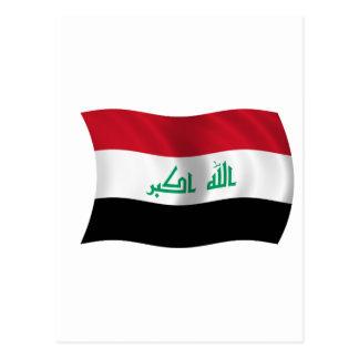 Bandera de Iraq Tarjetas Postales
