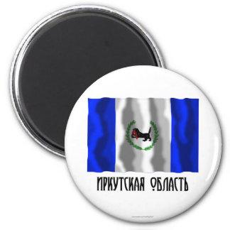 Bandera de Irkutsk Oblast Imán Redondo 5 Cm