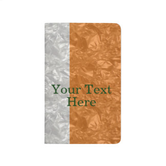 Bandera de Irlanda - arrugada Cuaderno Grapado