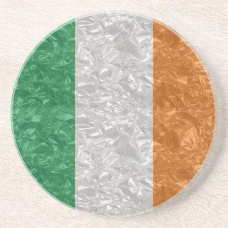 Bandera de Irlanda - arrugada Posavasos Para Bebidas