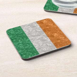 Bandera de Irlanda - arrugada Posavaso