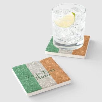 Bandera de Irlanda - arrugada Posavasos De Piedra