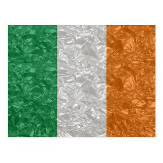 Bandera de Irlanda - arrugada Postal