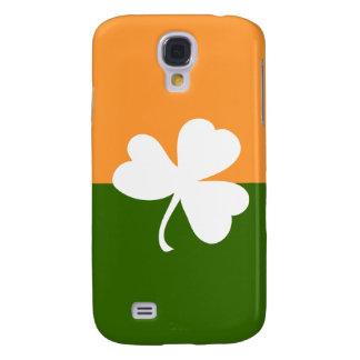 Bandera de Irlanda con el trébol afortunado