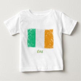Bandera de Irlanda del Grunge Playera De Bebé