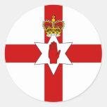 Bandera de Irlanda del Norte de la bandera de Etiqueta Redonda