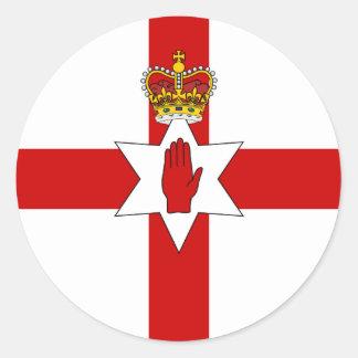 Bandera de Irlanda del Norte de la bandera de Pegatina Redonda