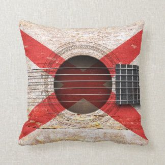 Bandera de Irlanda del Norte en la guitarra Almohada