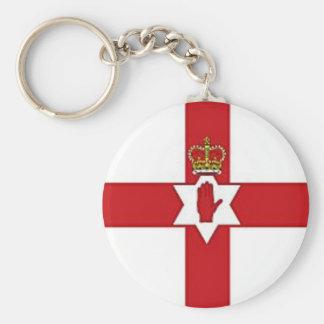 Bandera de Irlanda del Norte Llavero Redondo Tipo Pin