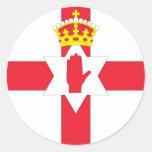 Bandera de Irlanda del Norte Pegatinas Redondas