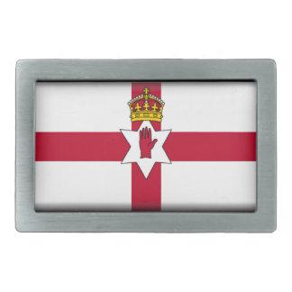 Bandera de Irlanda del Norte (Ulster) Hebilla Cinturon Rectangular