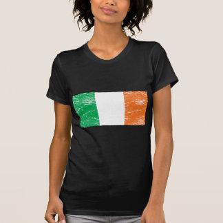 Bandera de Irlanda del vintage Remeras