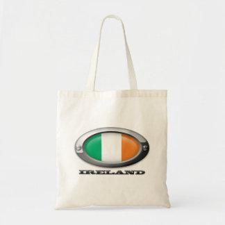 Bandera de Irlanda en el marco de acero Bolsa Tela Barata