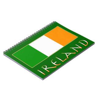 Bandera de Irlanda Libros De Apuntes Con Espiral