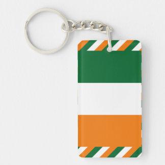 Bandera de Irlanda Llavero Rectangular Acrílico A Una Cara