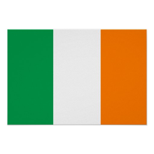 Bandera de Irlanda Poster