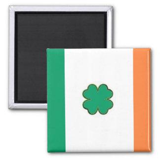 Bandera de Irlanda para las fans irlandesas Imán Cuadrado