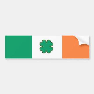 Bandera de Irlanda para las fans irlandesas Pegatina Para Auto